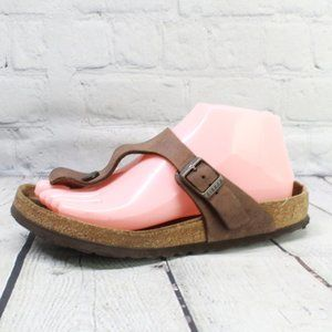 BIRKENSTOCK GIZEH Leather Thong Sandals Size 37 6